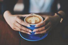 coffee latte art espresso coffee shop caffelatte cup wooden table brown hands