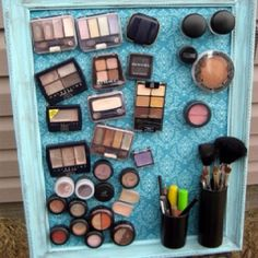 Magnet board and attach magnets to makeup!