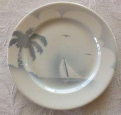 Vtg Syracuse China Sailboat Small Plate