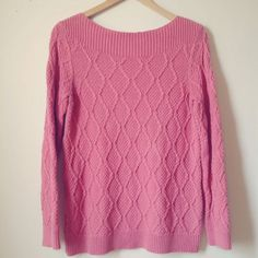 Croft & Barrow Womens Dusty Rose Chunky Knitted Sweater Small A2