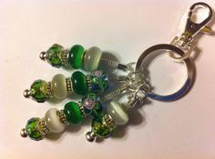 European glass bead keychain on Etsy, $18.50