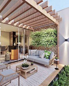 Outdoor Pergola, Outdoor Rooms, Outdoor Living, Outdoor Decor, Rooftop Terrace Design, Design Exterior, Backyard Patio Designs, Patio Ideas, House Design