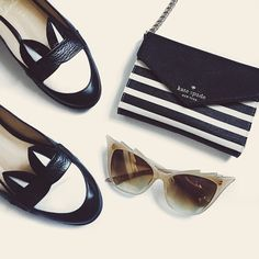 Today. @minnaparikkashoes @katespadeny @ditaeyewear