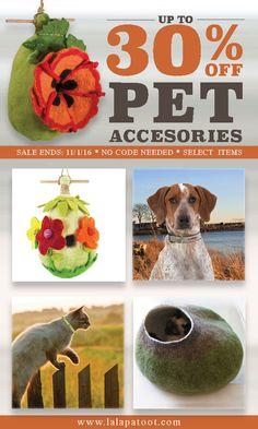 Adorable Pet Accessories: www.lalapatoot.com 30%OFF SALE Till 11/1/16 No code necessary. #petcare   #petaccessories   #petlove   #pets   #pet   #dogs   #cats   #cat   #dog   #petbeds   #catbeds   #dogbeds   #birdhouse   #sale   #promotion   #dogcollars   #catcollars