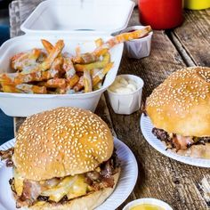 When a burger and fries needs another burger.