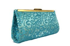 Check out this item in my Etsy shop https://www.etsy.com/listing/230360688/turquoise-brocade-wedding-clutch-bridal