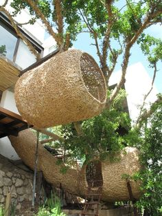 human-sized nests by South African design company Animal Farm Natural Architecture, Vernacular Architecture, Green Architecture, Architecture Design, Pavilion Architecture, Concept Architecture, Sustainable Architecture, Residential Architecture, Contemporary Architecture