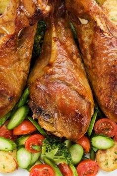 Easy Slow Cooker Turkey Legs Recipe - Only 4 Ingredients and a 5 Minute Prep Time - Low Carb, Low Calorie, and Paleo