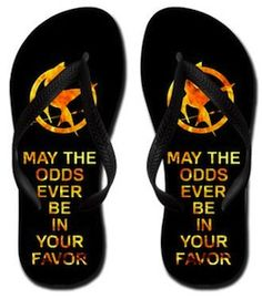 The Hunger Games Mockingjay flip flops - the only thing that would make these better, is if they left Mockingjay imprints behind!