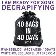 40 Bags in 40 Days 2014 Decluttering Challenge - white house black shutters