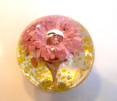 Flower Paperweight by Glass Rocks. American Made. See the artist's work at the 2014 Buyers Market of American Craft, Philadelphia, PA. January 18-21, 2014. americanmadeshow.com