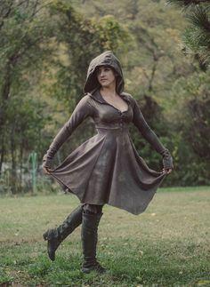 Empire waist hoodie dress  (NEW COLOR!)
