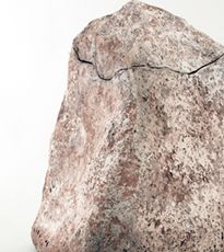 """Biodegradable large funeral urn, clay saturated paper pulp, unfired, approximately 16""""H"""