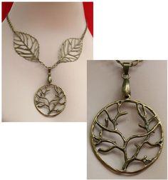 Burnished Gold Celtic Tree of Life Necklace