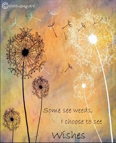 Painting Digital Art Dandelion Art With Quote by JpegArt on Etsy