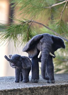needle felted Mother Elephant cow   Flickr - Photo Sharing!