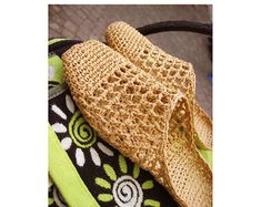 FILET NETTING Home Shoes  Crochet Pattern  Instant Download