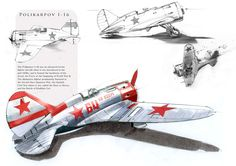 Polikarpov I-16 The Polikarpov I-16 was a Soviet fighter aircraft of revolutionary design; it was the world's first cantilever-winged monoplane fighter with retractable landing gear. The I-16 was introduced in the mid-1930s and formed the backbone of...