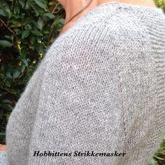Hobbittens StrikkeMasker: Contiguousmetode godkendt ...cardigan færdig
