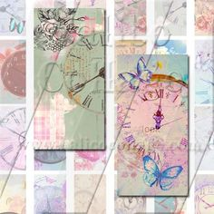Dreamy Clocks  Instant Download Printable Digital by calicocollage, $4.15