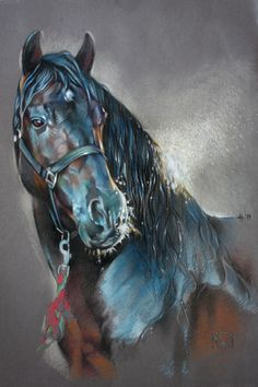 Discover thousands of images about Horse art - Entendido XXXIV - Caballos Mayoral. Pretty Horses, Horse Love, Beautiful Horses, Horse Drawings, Animal Drawings, Portraits Pastel, Arte Equina, Watercolor Horse, Horse Artwork
