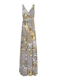 MANGO - Vestido largo estampado