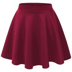 Women's Basic Solid Versatile Stretchy Swing Mini Skater Skirt ❤ liked on Polyvore featuring skirts, mini skirts, skater skirt, stretch skirts, wide skirt, purple mini skirt and flared skirt