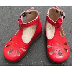 Chic sandals - Babies montantes à découpe pétale coquelicot [Pépé]