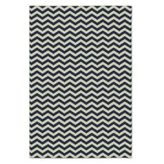 Custom Zig Zag Dhurrie, Midnight, 12'x18'