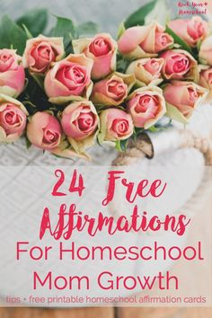 Add happy to your homeschool day with affirmations! Use these 24 FREE printable homeschool affirmation cards to help you start harnessing the power of positive thinking strategies. You CAN grow as a homeschool mom! Parenting Teens, Parenting Quotes, Parenting Hacks, Homeschool High School, Homeschool Curriculum, Homeschooling Resources, Morning Affirmations, Daily Affirmations, Printable Cards