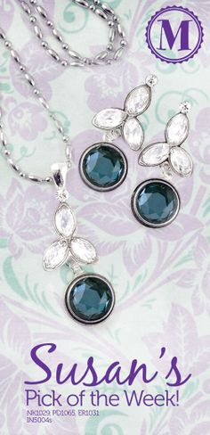 You don't have to have a birthday in March to love our aquamarine Bitties! They look so beautiful in our Rosebud pendant & earrings. Susan's birthday is in September in case anyone wants to come to Magnabilities for cake! (Pudding cake is her favorite.) Learn how to earn FREE JEWELRY!  Click to contact us to find a consultant near you!