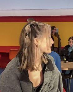 Pretty Hairstyles, Easy Hairstyles, 2000s Hairstyles, Pigtail Hairstyles, Kawaii Hairstyles, Teenage Hairstyles, Straight Hairstyles, Girl Hairstyles, Hair Inspo