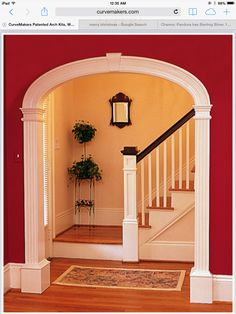 CurveMakers Patented Arch Kits Wood Arches D-I-Y Arched Doorways and Openings Interior Archways DIY Arches Curved Moulding and Trim - April 28 2019 at Interior Trim, Interior Design, Interior Columns, Interior Door, Arch Doorway, Round Doorway, Wood Arch, Arched Doors, Moldings And Trim