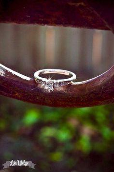 ring lying on a horseshoe