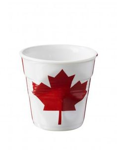 Gobelet froissé Revol Espresso 8 cl drapeau Canadien