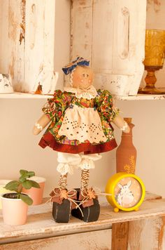 ginger de pé Gingerbread Crafts, Christmas Gingerbread Men, Gingerbread Houses, Victorian Dolls, Country Crafts, Primitive Crafts, Tole Painting, Xmas Crafts, Diy Doll