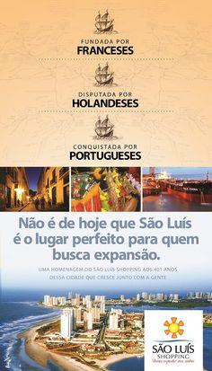 São Luís Shopping – Anúncio de jornal 401 anos de São Luís.