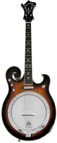 Gold Tone EBM-4 Electric Tenor Banjo (Four String, Tobacco Sunburst) by Gold Tone. $936.56. Similar to our EBM (Electric 5-string Banjo), the EBM-4's unique F-style design looks as good as it sounds. This electric tenor banjo, tuned CGDA, is ideal for the 4-string player looking to expand their sound.  The two-tone tobacco sunburst is pleasantly offset by the chrome plated hardware. It has easy to reach control knobs for quick tone and volume changes. This mode...