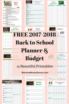 Take the Debt Free School Year Challenge and get a bonus printable Back to School Planner & Budget with 13 beautiful worksheets. #free #printables #backtoschool #planner #budget #ideas #teens #kids #lunches #organize #shopping