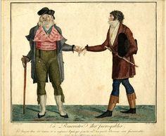 La rencontre des Incroyables, 1796-98, britishmuseum.org