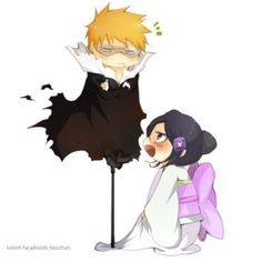 Ichigo e Rukia Anime Chibi, Manga Anime, Anime Art, Bleach Ichigo And Rukia, Bleach Manga, Kuchiki Rukia, Bleach Yachiru, Shinigami, Awesome Anime