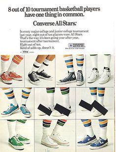 1974 Converse All Star Tennis Basketball Shoes Print Ad | eBay