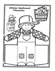 Apples and Johnny Appleseed Crafts and Coloring