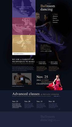 #Tanzsaal #Website Template