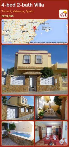 4-bed 2-bath Villa in Torrent, Valencia, Spain ►€209,950 #PropertyForSaleInSpain