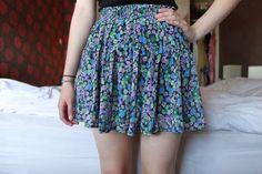 floral skirt. ♡