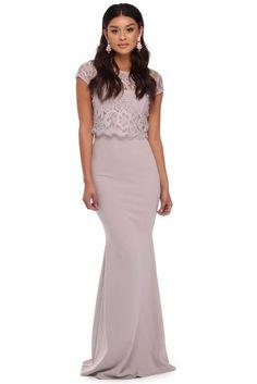 Avril Lavender Lace Formal Dress