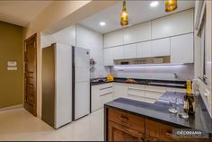 Drawing Room Decoration, kitchen in PS RESIDENCE by The Good Life Interiors   iDecorama