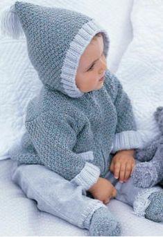 Veste a capuche et chaussons (3-6-12-24 mois)
