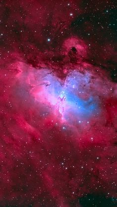 Eagle Nebula M16, in false color. Credit: Brett du Preez